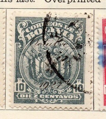 Bolivia 1928 Early Issue Fine Used 10c. Optd 1927 113353