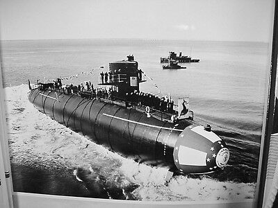 "Lot #2: Official U.S. Navy Photograph USS Nuclear Submarine ""Finback""  8"" x 10"""