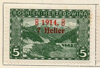 Bosnia Herzegovina 1914 Early Issue Fine Mint Hinged 7h. Surcharged 113365