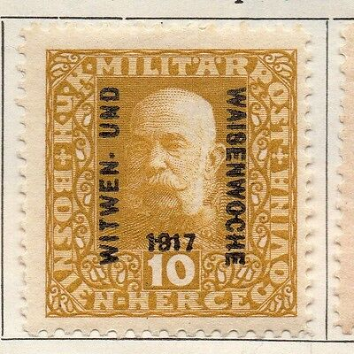 Bosnia Herzegovina 1917 Early Issue Fine Mint Hinged 10h. Optd 113376