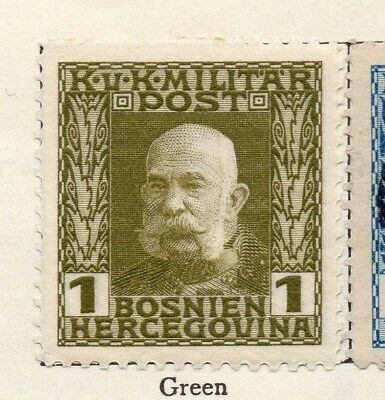 Bosnia Herzegovina 1912 Early Issue Fine Mint Hinged 1h. 113390