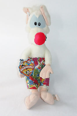 "Pinky & The Brain Show Animaniacs Vintage 1997 Plush Stuffed Doll Toy 20"" w/tags"