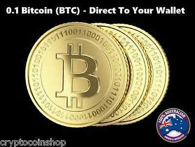 0.1 Bitcoin (BTC) - Mined Bitcoin - Direct To Your Wallet - By CryptoCoinShop