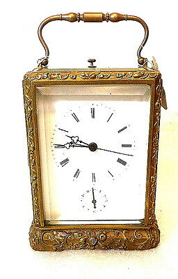 French Signed Japy Freres Carved Case Carriage Clock for Chinese Market--1860