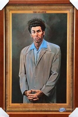 (Brown Framed) The Kramer Seinfeld Poster Print Picture - Ready To Hang Art New