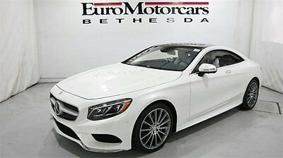 2015 Mercedes-Benz S-Class 2dr Coupe S550 4MATIC mercedes benz s550 s 550 coupe 4matic awd white 15 16 navigation cpo certified