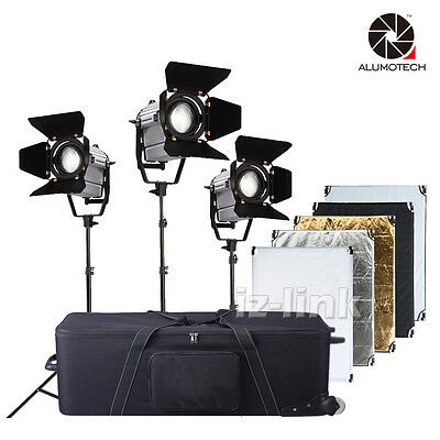 150W Wireless Remote Dimmable Bi-color LED Spot Light + Stand+Case+ Reflector
