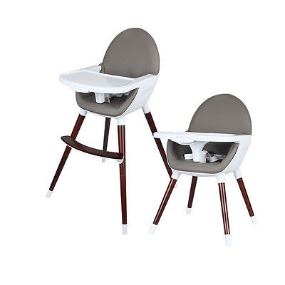 Wooden Baby Feeding Accessory Timber High Chair Padded seat Baby child Infant