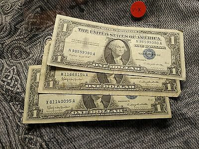 Lot of (3) 1957 $1 Silver Certificate !!