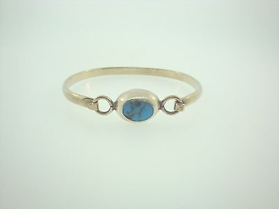 Sterling Silver 925 Turquoise Bangle Bracelet Mexico