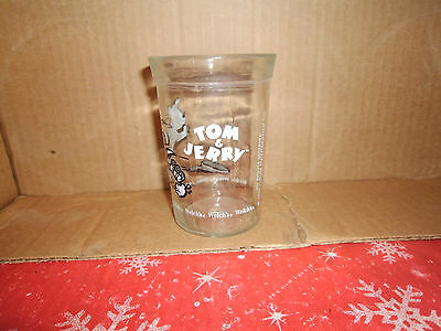 Welch's Jelly Glass 1990 Tom & Jerry Tom Rollerskating Lot #1