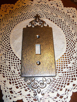Vintage Solid cast Satin brass switch wall plate cover