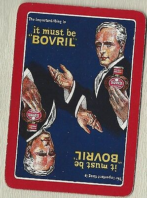 1 Single Vintage Swap Playing - Bovril  - Old Wide Advertising