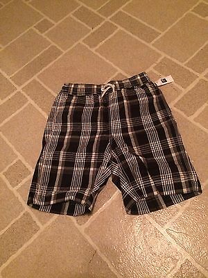 New With Tags: Navy And White Plaid Swim Trunks Gap Kids Kid Boy Size Large/10