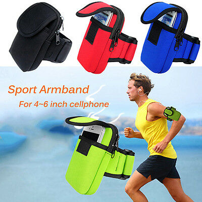 Universal Sport Running Riding Arm Band Case For Cell Phone Holder Zipper Bag EU