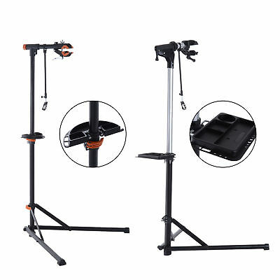 Aluminium Bicycle Repair Stand Rack Adjustable Bike Mechanic Maintenance Black