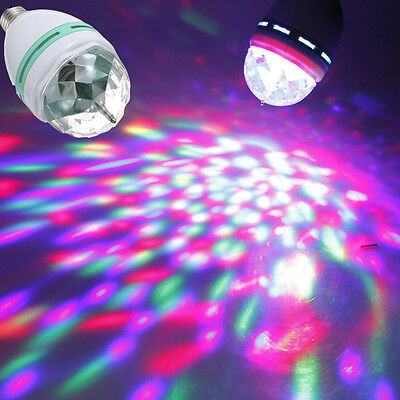 Colorful Rotating RGB Spot Light Bulb For Bar Party Holidays Disco Stage