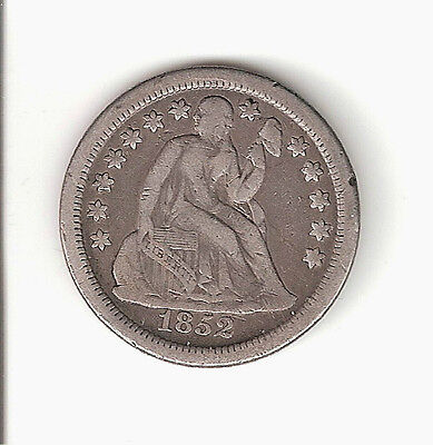 1852-O Liberty Seated Dime in F+ condition