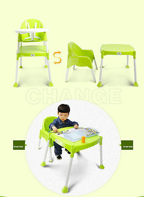 Baby High Chair HighChair Feeding Seat 3 in 1 Good Quality Toddler Desk w/ Belt