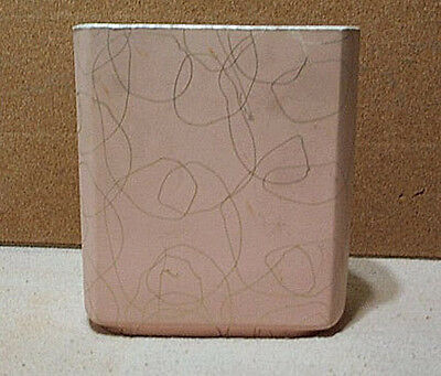 Shawnee Pink & Gold Cobweb Pillow Vase 7 Inches Tall Mid Century Modern #1026