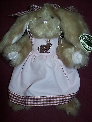 Bearington Bears Plush COCOA BUNNY - 10 INCHES TALL - Spring 2012  NEW WITH TAGS