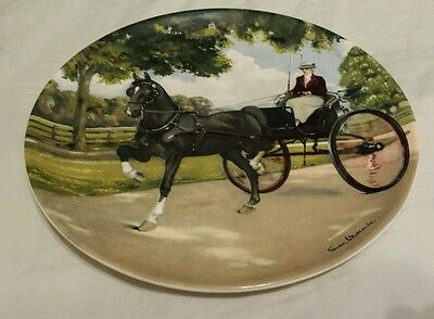 Spode 1989 The Hackney Plate by Susie Whitcombe  Noble Horse Collection