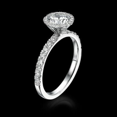 Jewelry 14K White Gold Enhanced Round Cut Diamond Engagement Ring 2.50 CT G/SI1