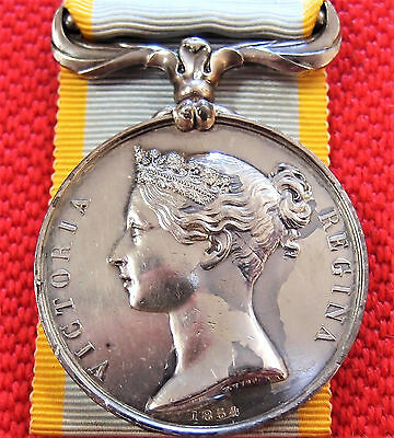 Vintage Pre Ww1 British 1854 Crimea Service Medal Un-Named Probably French Issue