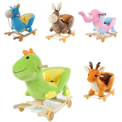 Baby Animal Music Rocker Ride On Walker Children Kid Toy Rocking Horse Car 2In1