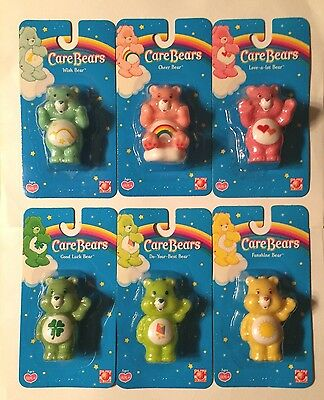 Lot Of 6 Carded Care Bear Plastic FIGURES/CAKE TOPPERS/TOYS 2004-2005 Play Along