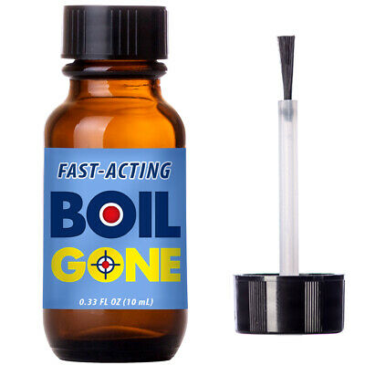 Boils skin treatment & brush applicator. Compare BoilX Ease boil remedy. Works!