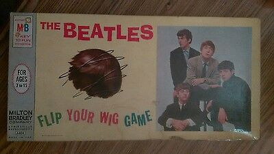 """The Beatles """"Flip Your Wig Game"""" Milton Bradley Board Game 1964 complete vg cond"""