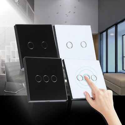 2/3 Gang Smart Interruttore Luce Tocco Vetro Temperato Touch Switch