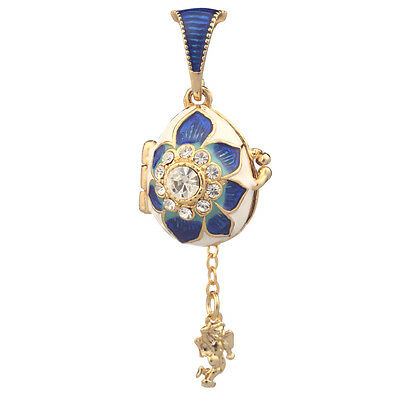Faberge Egg Pendant / Charm with Angel 2.1 cm #0730-2