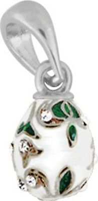 Faberge Egg Pendant / Charm with crystals 1.5 cm #0975-09