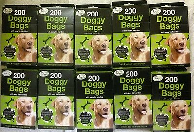 2000 X DOGGY BAGS - Scented Pet Pooper Scooper Bag Dog Cat Poo Kitten Waste Poop