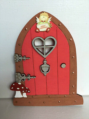 Gorgeous Wooden Christmas Fairy/magic Elf Door - Hand Crafted
