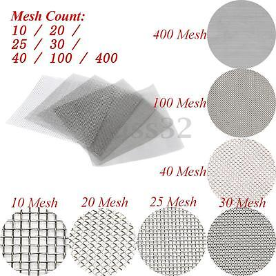 10/20/25/30/40/100/400 Mesh Stainless Steel Woven Wire Filter Sheet 30x30cm