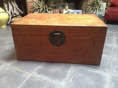 Antique Camphor Wood Chest From Asia