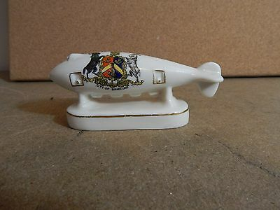 WW1 Arcadian China Super Zeppelin crested china Bradford Crest