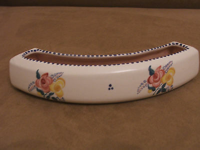 30's VINTAGE POOLE POTTERY HAND PAINTED CURVED POSY TROUGH EXCELLENT CONDITION