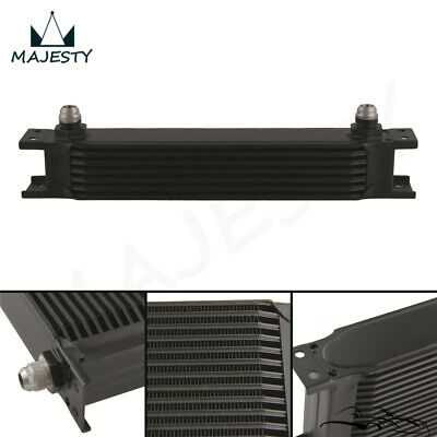 """7 Row 8AN Universal Engine Transmission Oil Cooler 3/4""""UNF16 AN-8 Black"""