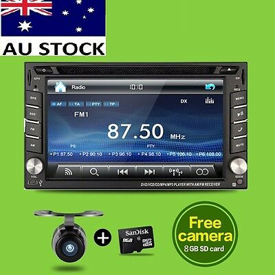 6.2 Double 2DIN Video GPS Car DVD Player Stereo For Nissan Universal CD BT Radio
