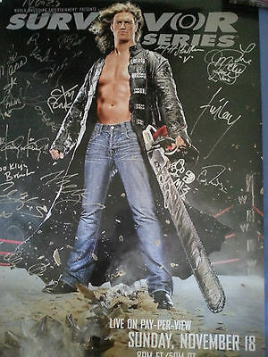 WWE Signed Survivor Series Poster With Proof