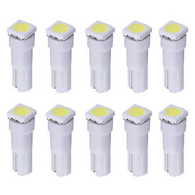 Practical 10 Pcs White 5050 1-SMD Indicator Dashboard LED Bulbs Light Lamp T5