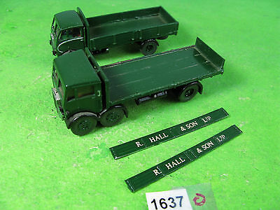 Vintage white metal Hall son lorry & other - HO OO model railway 1637
