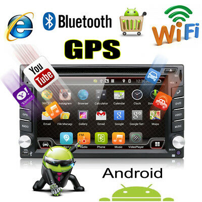 Double Din In Dash Car Audio GPS Navigation Stereo Radio 8G Map Cam Android 6.0