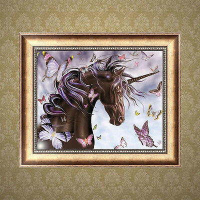 Horse Butterfly 5D Diamond Embroidery Painting Cross Stitch DIY Craft Home Decor