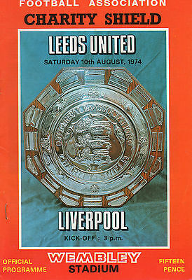 LEEDS UNITED v LIVERPOOL - Charity Shield 9/8/1974   Clough Leeds manager