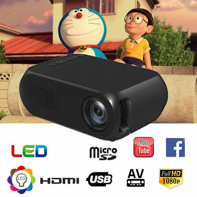 Excelvan 3000 Lúmenes Proyector 1080P Cinema Video Audio HDMI USB VGA AV TV PC
